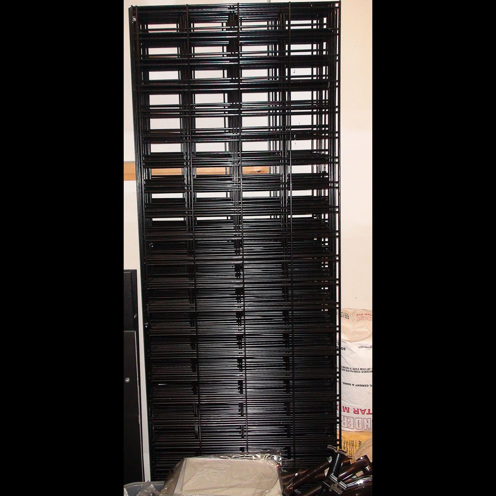 wire slat wall black new for sale