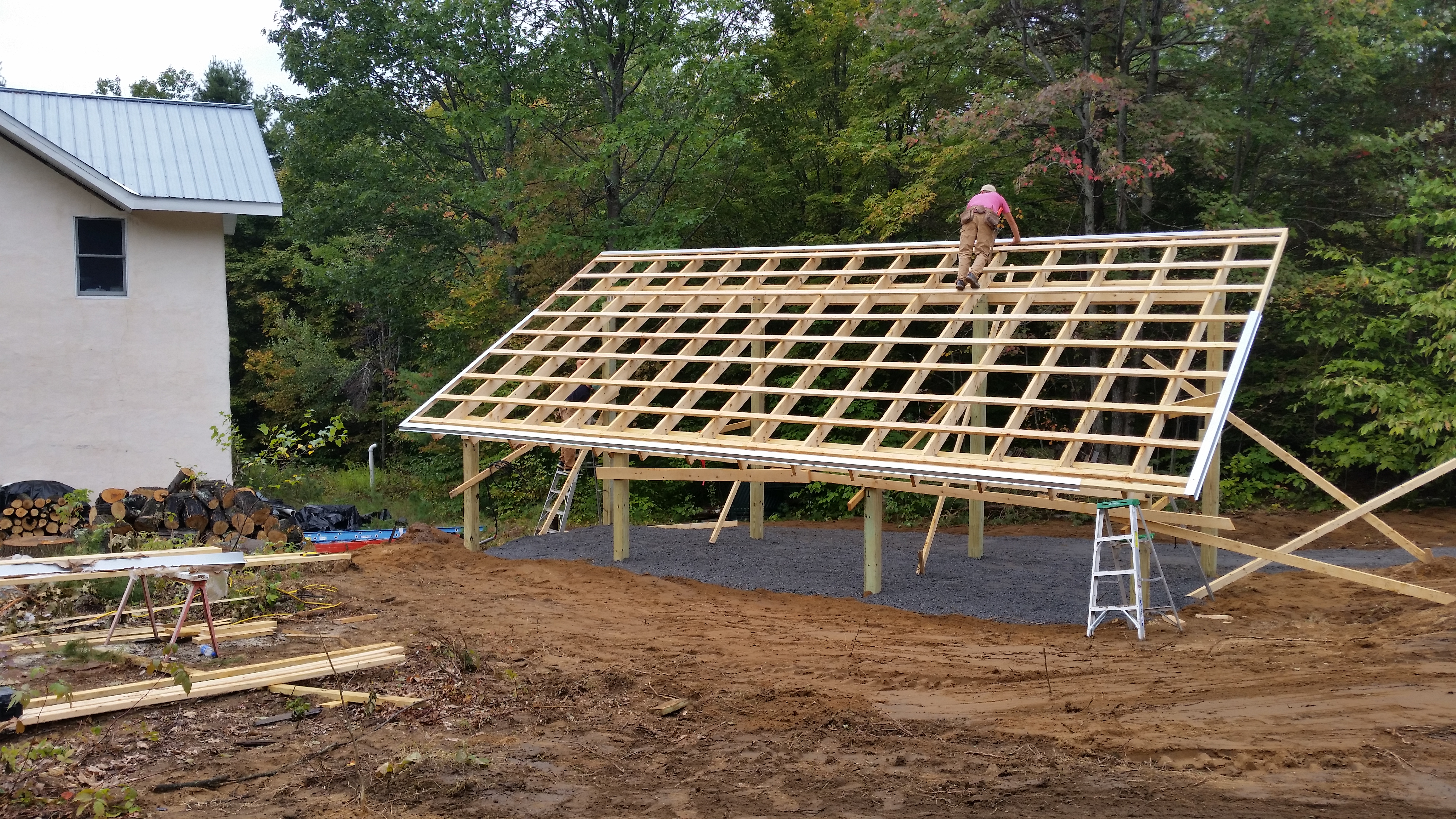 completing tool shed roof framing